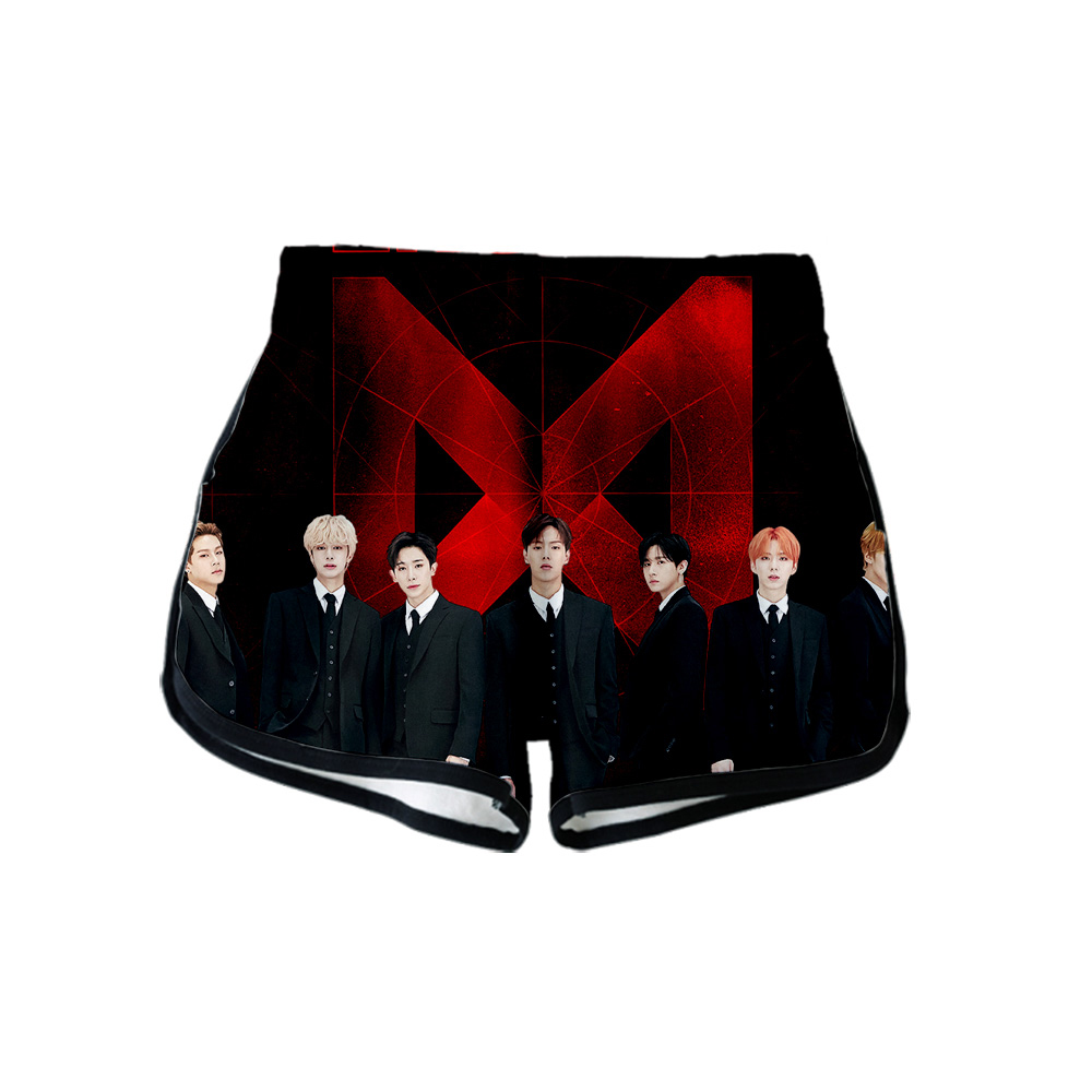 New Fashion Kpop Monsta X 3D Printed Shorts For Women Streetwear Fans Shorts 2019 Hot Sale Girls Casual Harajuku Streetwear Pant