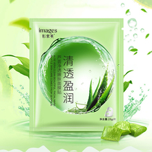 лучшая цена IMAGES Plants Aloe Vera Face Skin Care Face Mask Moisturizing Oil Controlling Whitening Anti Wrinkle Anti Aging facial mask