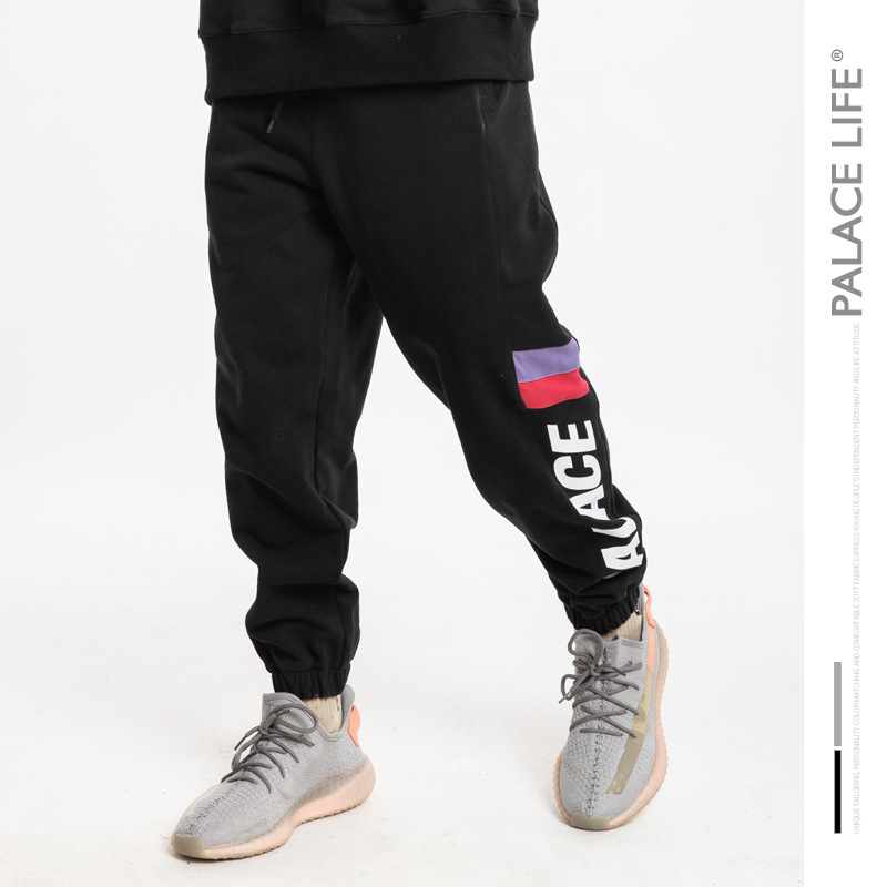 Palace Life Europe And America Popular Brand Men'S Wear Street Loose-Fit Sports Sweatpants Ankle Banded Pants MEN'S Casual