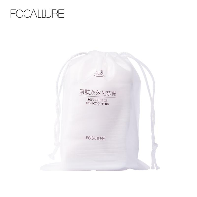 FOCALLURE 80pcs Make Up Cotton Pads Travel Package Soft And Comfortable Facial Makeup Remover