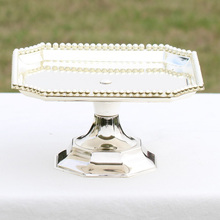 Square cake stand Silver  iron metal Place tools wedding table decoator home decoration Dessert Tray Home decora