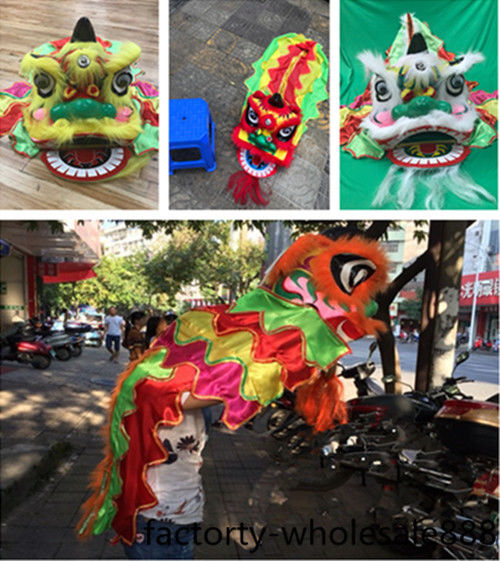 Costume de danse de Lion chinois costumes pour un enfant Costume de laine enfants robe Art populaire célébrer Festival Costume de mascotte de Lion