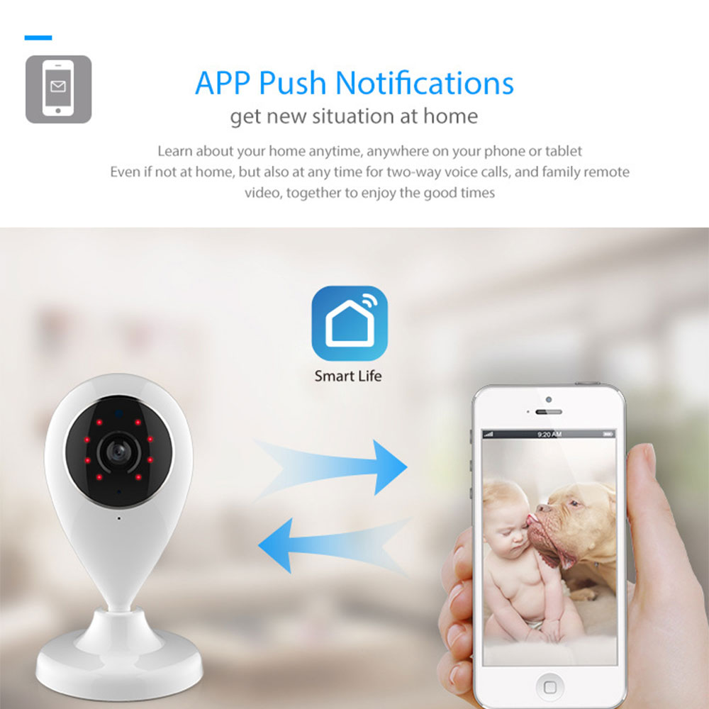 WiFi IP Camera Wireless Smart Home Security Surveillance SmartLife APP Control Two Way Audio Works With Alexa Echo Google Home 4