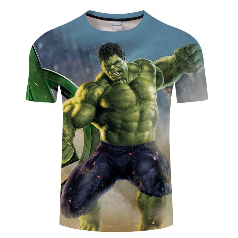 New Fashion Superhero Hulk Printed T-Shirt Men Women The Avengers Design Tee Shirt Homme Short Sleeve Summer Tee Tops
