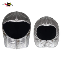 Costume Astronaut Helmet Spaceman Carnival Party Halloween Silver Kids Headgear-Accessory