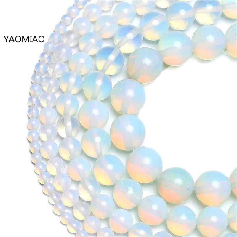 Naturale Perle di Pietra Opale Opalite 4/6/8/10/12MM Fit Fai Da Te Make Up Pendenti E Ciondoli che borda I Branelli Per Monili Che Fanno Gli Accessori di Trasporto libero