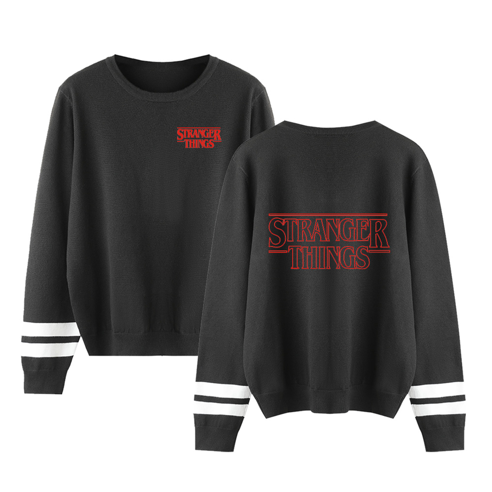 Stranger Things Capless Hoody Men/women New Sale Fashion Print Autumn Winter Long Sleeve Warm Casual Knitted Casual Sweater