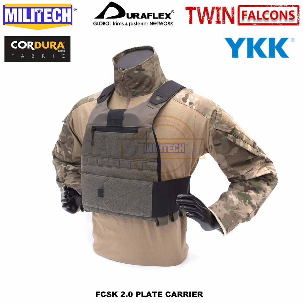 MILITECH TW FCSK 2.0 Advanced Slickster CQC Ferro Plate Carrier Military Combat Assault Tactical Vest Police Body Armor Carrier