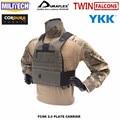 MILITECH TW FCSK 2.0 Avanzata Slickster CQC Ferro Piastra di Supporto Militare Assalto di Combattimento Gilet Tattico Polizia Body Armor Carrier