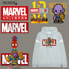Movie Applique On Clothes Marvel Iron Transfers For The Avengers Heat Transfer Vinyl Sticker Hippie Badge Decor DIY