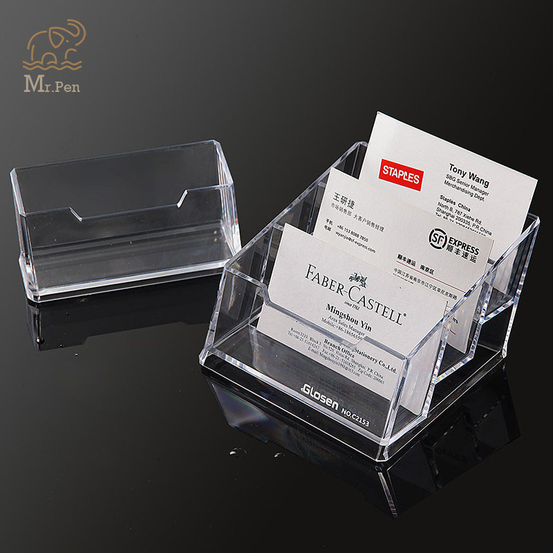 New Clear Acrylic Business Name Card Holder Display Stand Rack Desktop Table Organizer Office Home Supplies Card Storage Rack