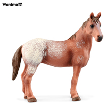 Wild Animal Horse Model Appaloosa Lusitano Clydesdale Haflinger Black White Steed Pinto Stallion Ranch Collectible Figurine Toys