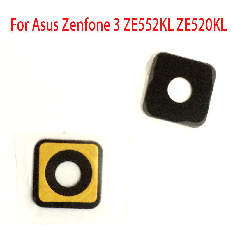 2 Pcs/Lot ,Back Camera Lens Glass For Asus Zenfone 3 ZE552KL ZE520KL Rear Back Camera Glass Lens Cover With Glue