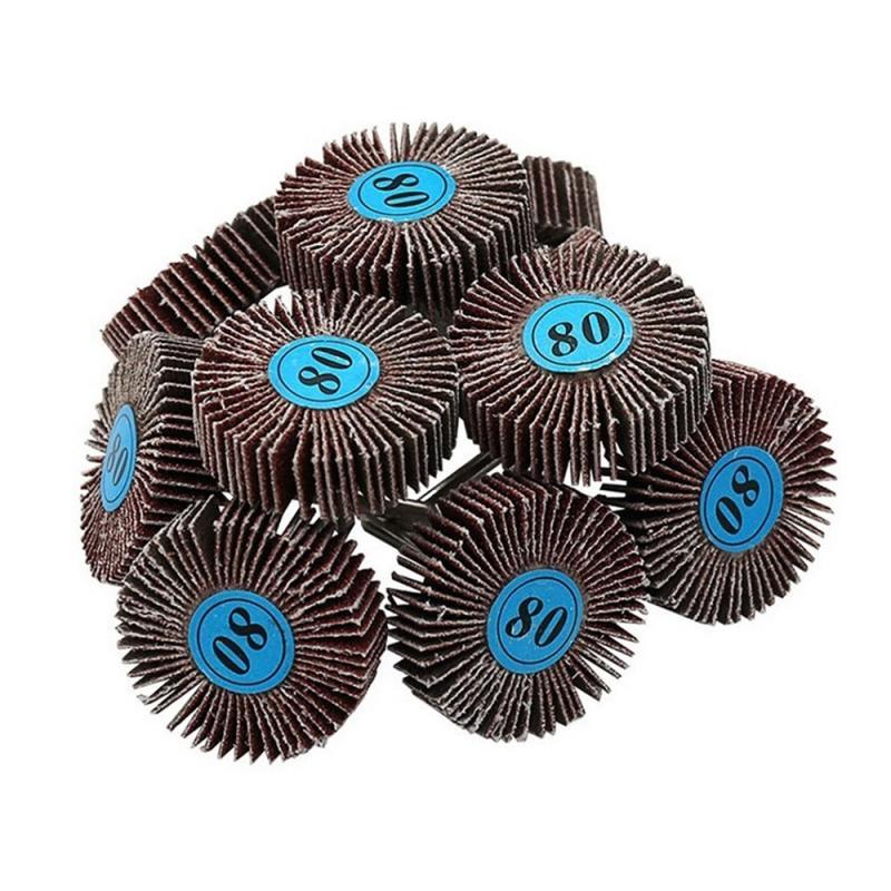 T-shaped Grinding Head Sanding Sandpaper Flap Wheel Discs For Rotary Tool Shutter Polishing Wheel For Dremel Tools Grinder Brush