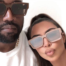 2020 Fashion Classic Luxury Brand Design Oversized Square Sunglasses Women Men