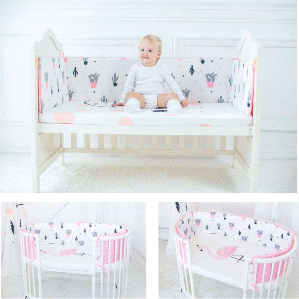 Hot Baby Bed Crib Bumper Baby Breathable Crib Bumper Pads Cotton Newborn Bumpers Infant Safe Fence For Infant Baby Crib Protect