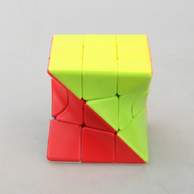 New 3x3 Torsion Magic Cube Coloful Twisted Cube Puzzle Toy Skew Cube Stickerless Puzzles Colorful Educational Toys For Children
