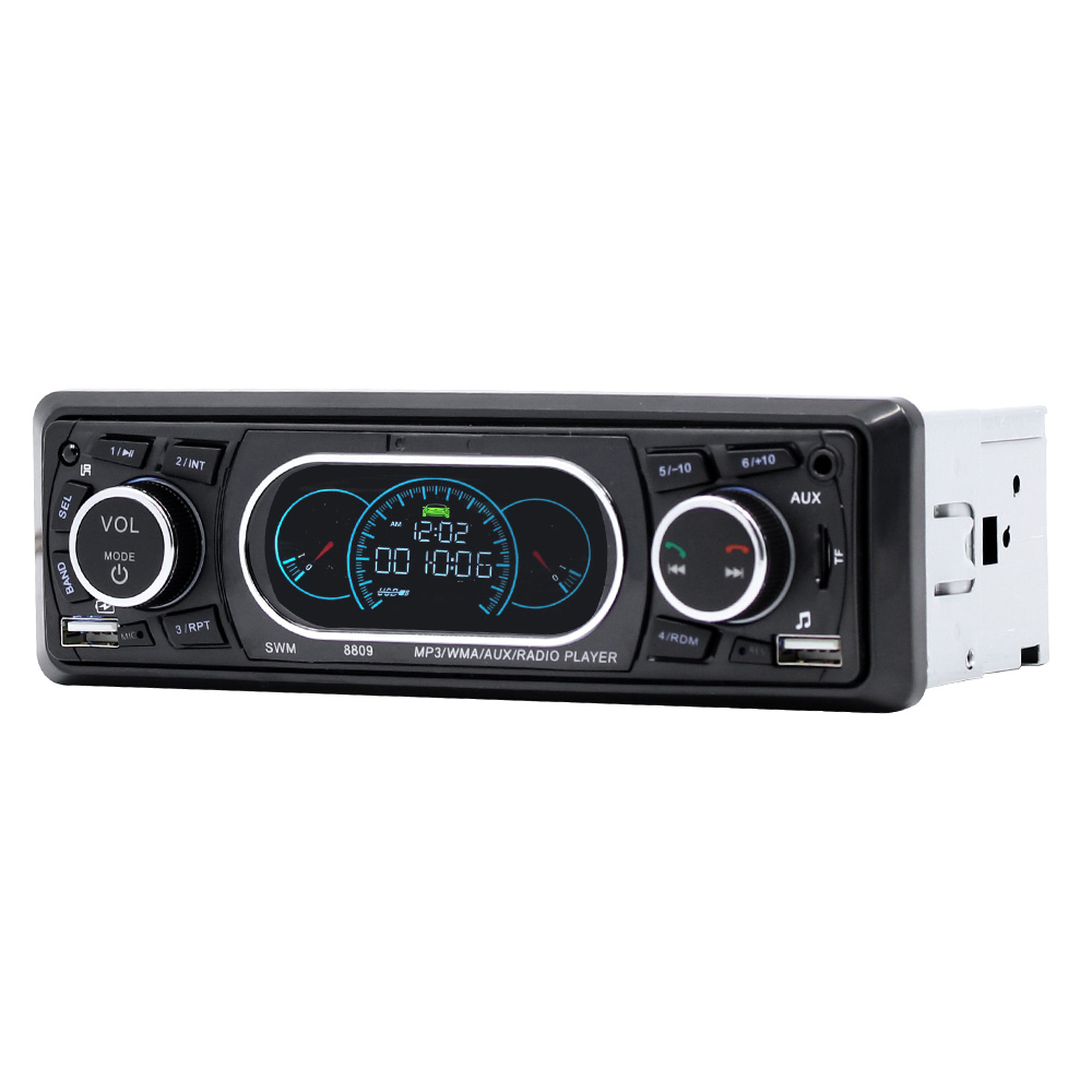 SWM 8809 Stereo Vehicle Car MP3 Player Audio Remote Control MP3 Player AUX/TF/USB FM Bluetooth Car Radio Music Player
