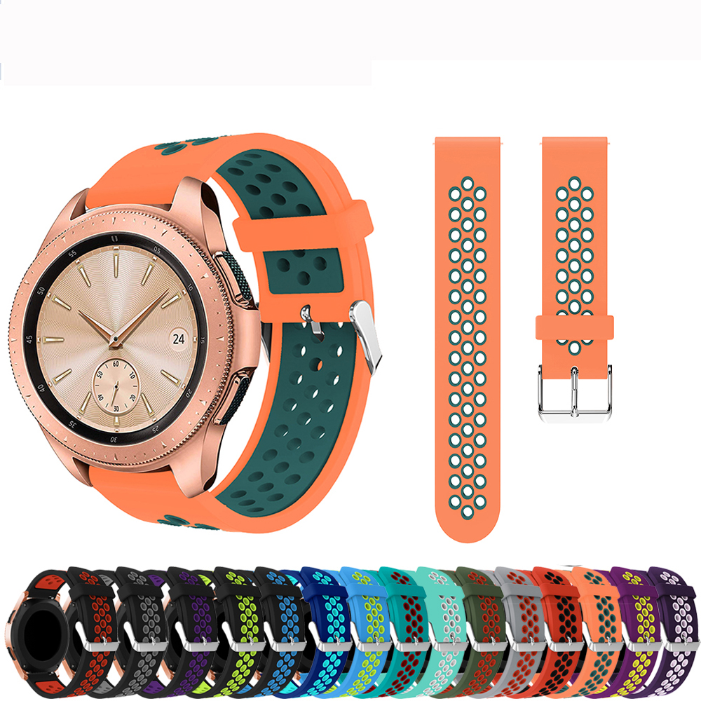 22mm <font><b>20mm</b></font> Silicone <font><b>Strap</b></font> for Samsung Galaxy 46mm/Active 2/S3 <font><b>Watch</b></font> Band for Amazfit GTR <font><b>GTS</b></font> /Huawei GT/Garmin vivoactive 3 bands image