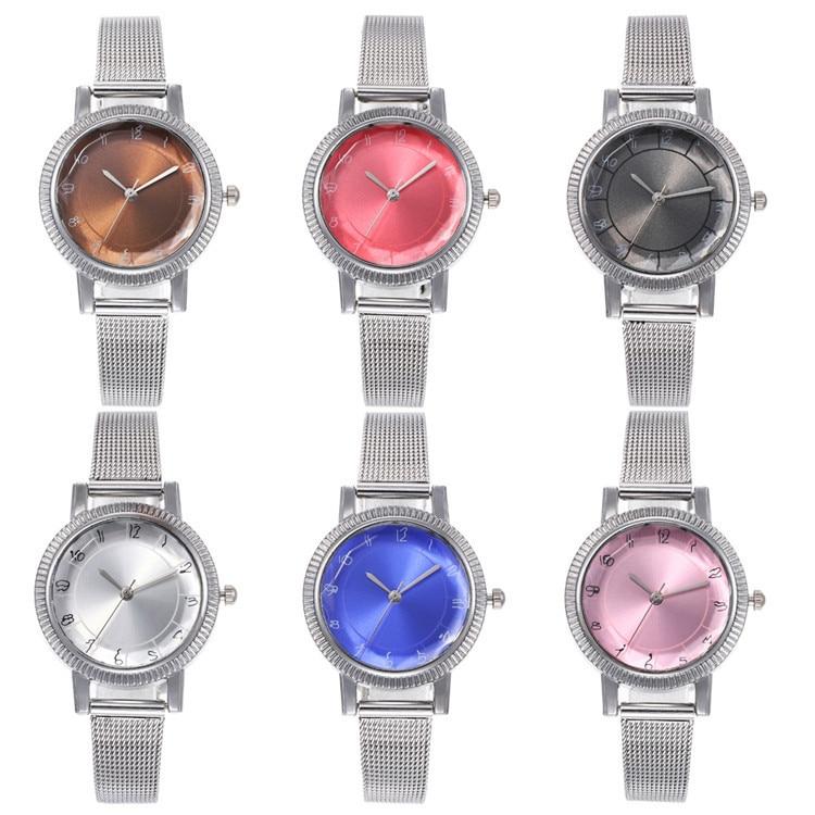 Fashion Net Belt Series Bracelet Watch Exquisite Multicolor Round Watch Joker Lady Wrist Watch