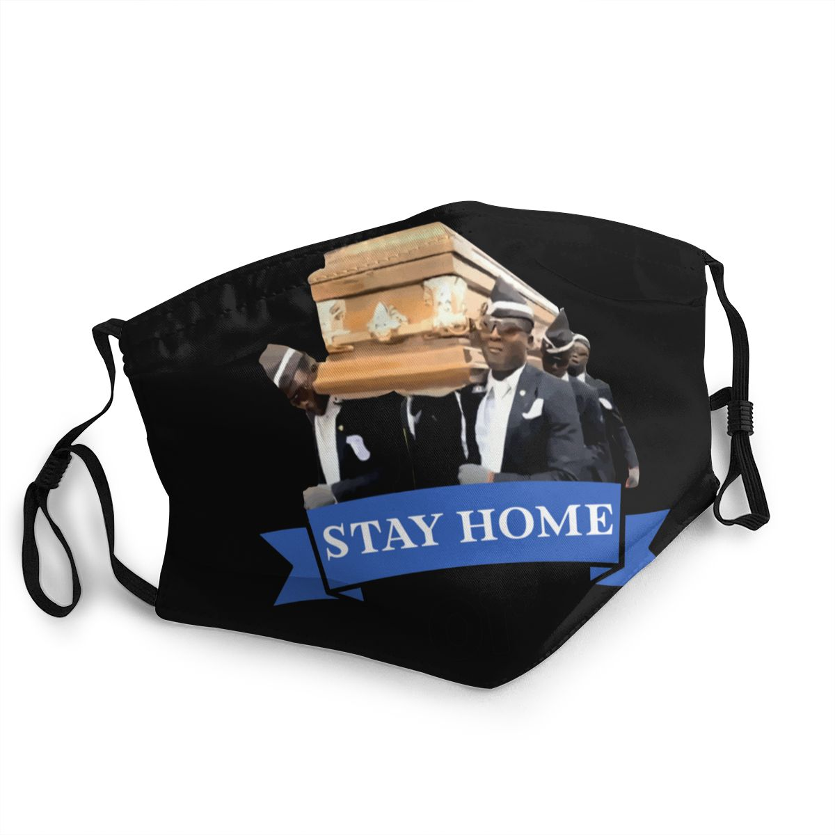 Coffin Dance Non-Disposable Face Mask Meme Funeral Pallbearers Anti Haze Dustproof Mask Protection Respirator Muffle