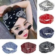 Twist Elastic Turban Headband For Women Headbands Head wrap Hairband Headwear Bandana Hair Accessories