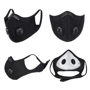 #H30 Cycling Face Mask Filter Anit-fog Breathable Dustproof Bicycle Respirator Sports Protection Dust Mask Anti-droplet 1
