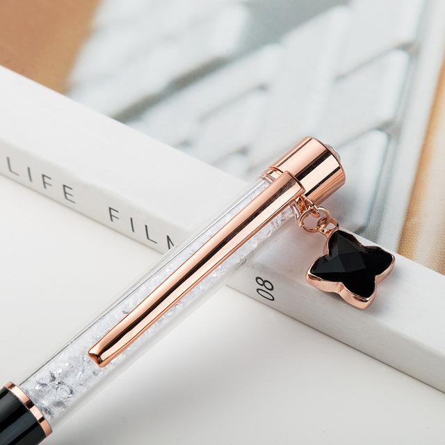 1pcs Kawaii Ball Pens Metal Ballpen Four-leaf clover Ballpoint Pens Student Pens For School Stationery Office Supplies 1.0mm 1