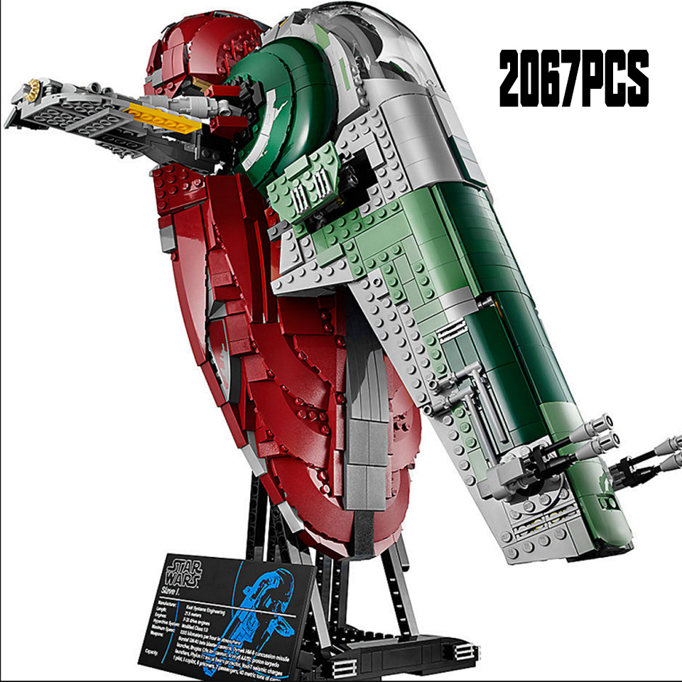 2019 NEW StarWars New Slave I Model Building Blocks Great Gifts Sets Playset Kit Gifts Compatible Legoiinglys Children Gifts