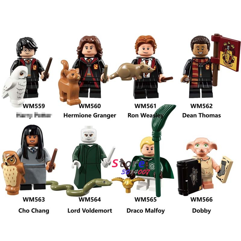 Single Building Blocks Action Dobby Lord Voldemort Hermione Ron Tina Toys For Children Action Figures Harry
