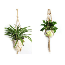 Hemp Rope Flower Pot Hanging Basket Pure Hand Weaving for Place Home Furnishings and Balcony Garden