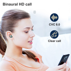 Image 3 - Bluetooth 5.0 Earphones F9 5 TWS Wireless Earphone 8D Bass Stereo In ear Earbuds Handsfree Headset With Microphone Charging Case