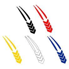 Pegatinas reflectantes de rayas para guardabarros de coche, pegatinas de línea, pegatinas de motocicleta, pegatinas impermeables para arañazos de coche