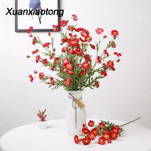 Xuanxiaotong 1pc Artificial Sill Lilac Chrysanthemum fleur artificielle for Wedding Holding Flowers Home Decor Daisy Fake Flower цена и фото