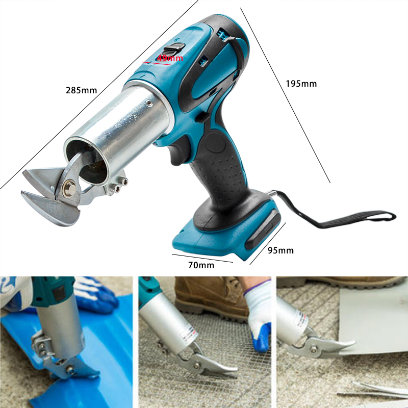 Electric Cordless Iron Scissors Metal Cutting Tools Iron Shear Cordless Sheet Shears Carbon Steel Cutter For Makita 18V Battery