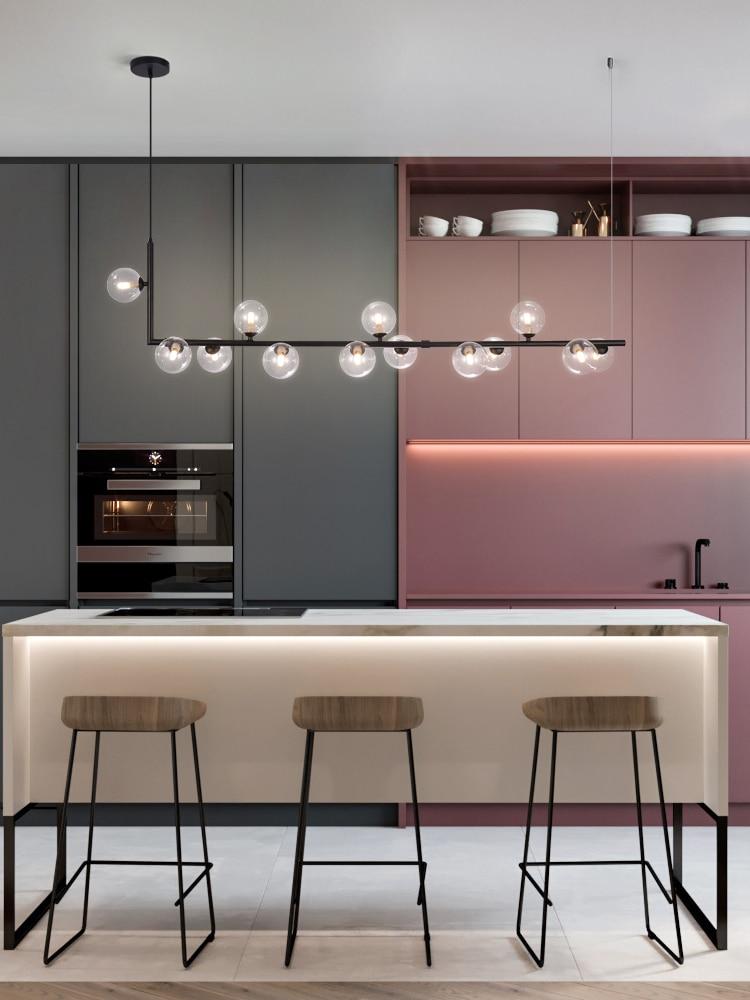 lowest price Nordic restaurant chandelier light luxury magic bean front desk new modern minimalist bar counter dining lamp