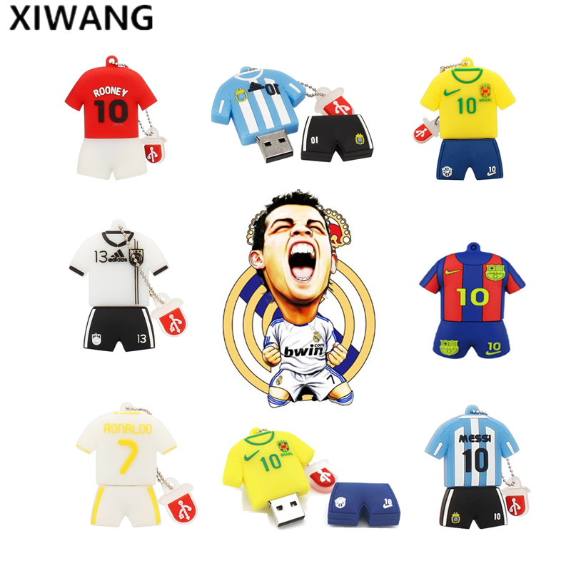 Usb Flash Drive 128gb Fashion Soccer Clothing Series Football Shirt Memory Stick 4GB 8GB Pendrive 16GB Pen Drive 32GB 64GB Gift