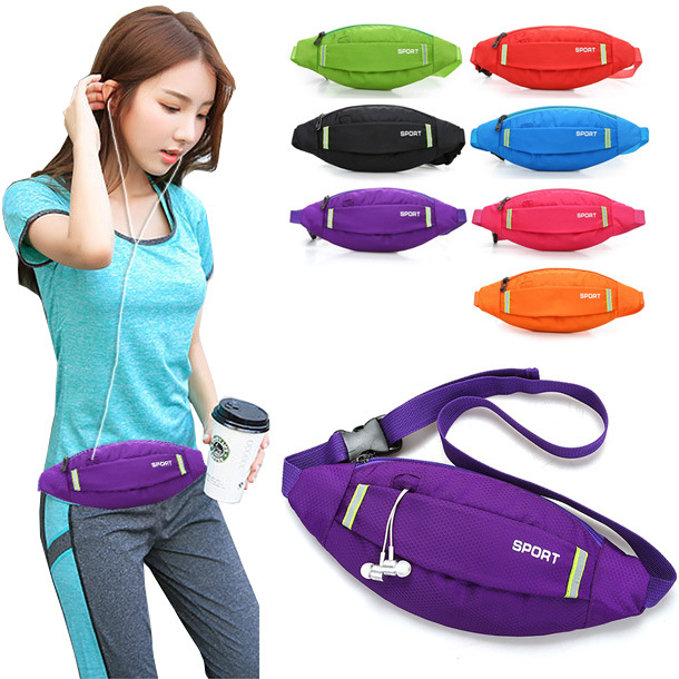 South Korea Sports Fitness Waist Pack Women's Korean-style Fashion Mobile Phone Outdoor Fitness Running Bag Riding Mountain Clim