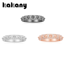 KAKANY 2020 Модный гламур кубический цирконий 1: 1 копия, черный, розовый циркон костяной палец, роскошные ювелирные изделия подарок для женщин Монако