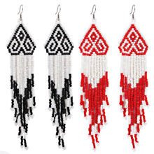 Bohemian earrings hand-woven glass beads earrings For women long pendant earrings hot sale wedding gift earrings wholesale