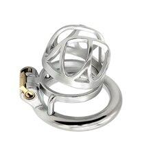Male Chastity Sex-Toys Sadism-Restraint Metal Cage Ring-Fetish Penis-Lock Bdsm Bondage