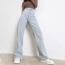 Jeans donna moda gamba dritta pantaloni Boyfriend vita alta Casual Baggy Jean 2020 nuovo abbigliamento femminile pantaloni larghi in Denim mamma