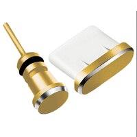 カラフルな金属タイプ c 抗ダスト充電ドックプラグ 3.5 ミリメートルヘッドフォンジャックキャップ電話充電サムスンギャラクシー huawei 社 xiaomi