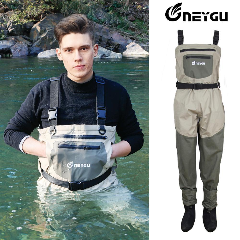 NeyGu Neoprene Stocking Foot Chest Wader For Rafting And Hunting And Marsh Muddy Camp, Waterproof And Breathable Fishing Wader