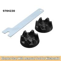 2 stücke Gummi Koppler Getriebe Kupplung Mit Entfernung Werkzeug Ersatz Kit für Mixer KitchenAid 9704230