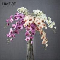 11 Heads Real Touch Weichen Schmetterling Orchidee Künstliche Blumen Ornamente Hause Hochzeit Dekoration Topf Wohnzimmer 101cm 8 Farben