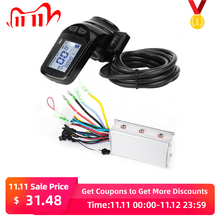 24V/36V/48V 350W 전자 자전거 브러시리스 컨트롤러 LCD 디스플레이 패널 엄지 스로틀 전기 자전거 스쿠터 브러시리스 컨트롤러 키트