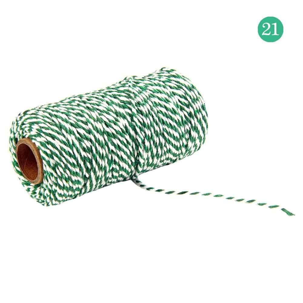 100 メートル/ロールナチュラルカラー綿ツイストコードロープ職人マクラメ文字列クラフトマクラメ diy 手作りのホーム装飾供給 cd