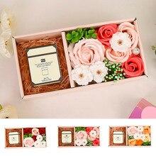 Ароматерапия, Розовое Мыло, цветок, сделанное из искусственного подарка, мыло, цветок, имитация цветов, Подарочная коробка, подарок для девушки, сюрприз, новинка и 17