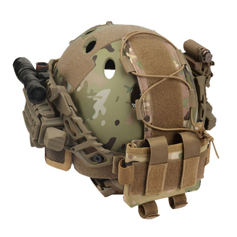 Tactical Helmet Battery Pouch MK2 Helmet Battery Pack Helmet Counterweight Pack Accessory For Airsoft Hunting